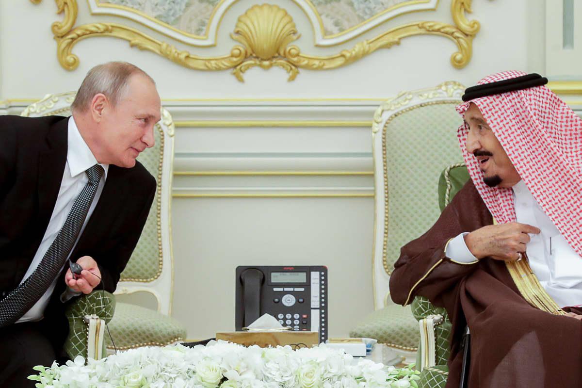 Vladimir Putin ja Salman bin Abdulaziz Al Saud