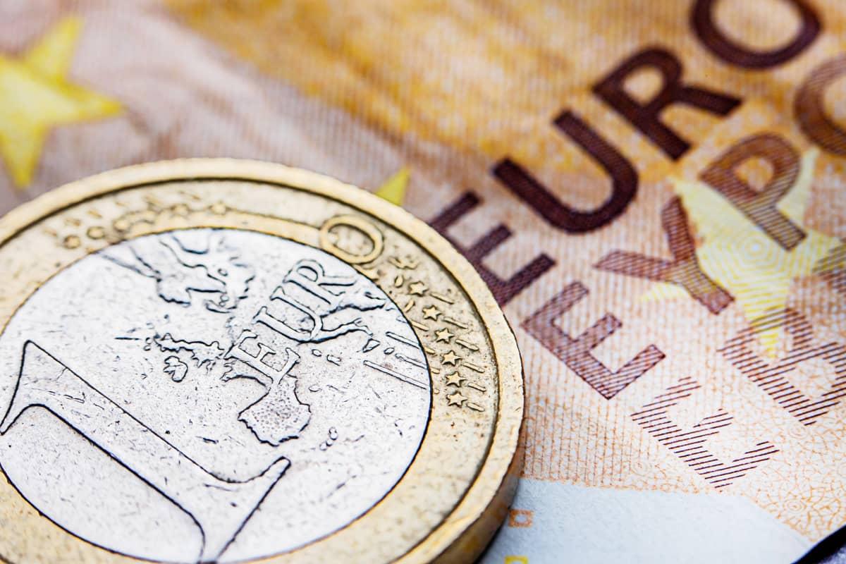 Euron kolikko ja seteli