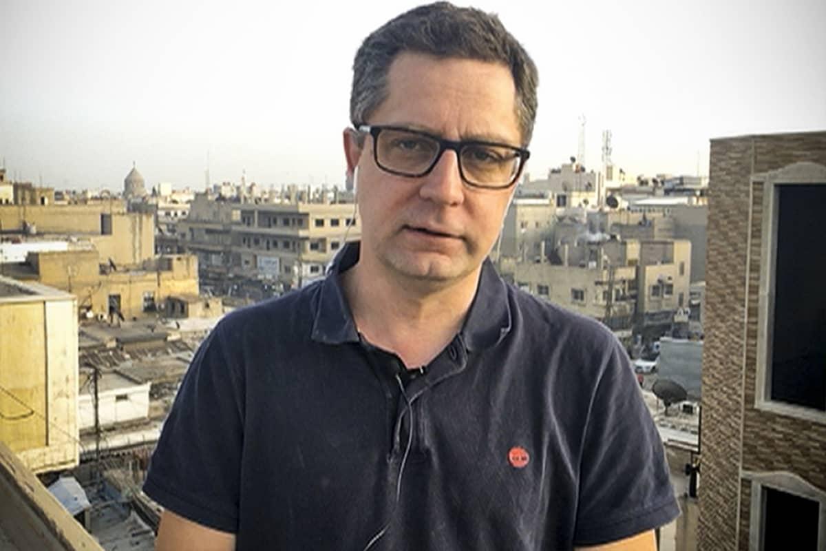 Antti Kuronen Syyrian Qamishlissa 25. toukokuuta 2019.
