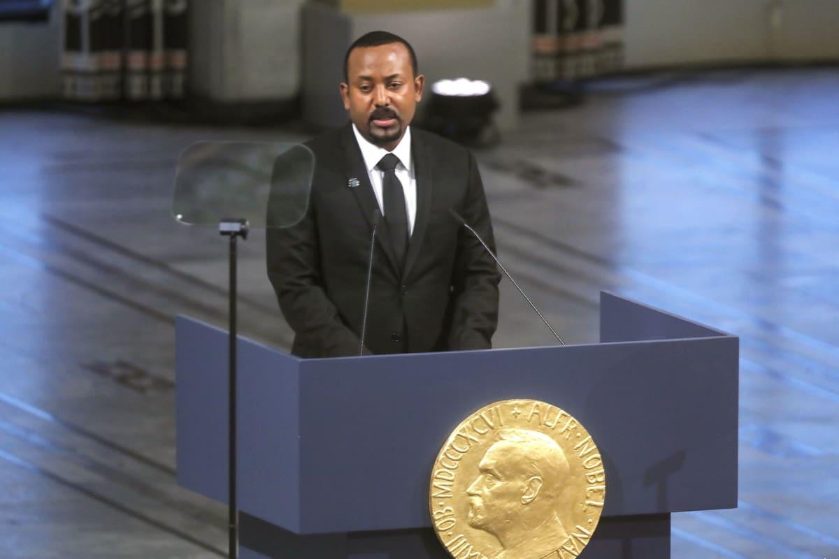 Etiopian pääministeri Abiy Ahmed Ali rauhanpalkinto-ehdokas 10. joulukuuta 2019