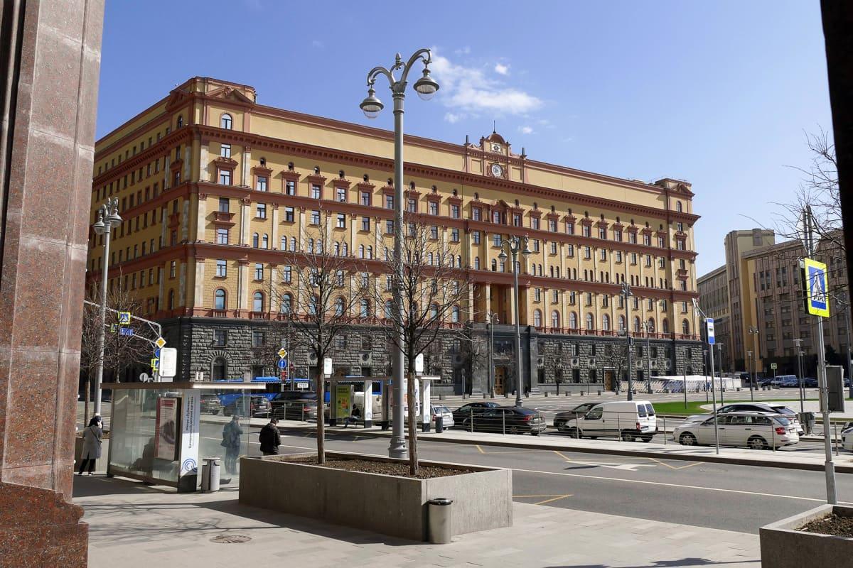 Venäjän turvallisuuspalvelu FSB:n päämaja Lubjanka-aukiolla Moskovassa.