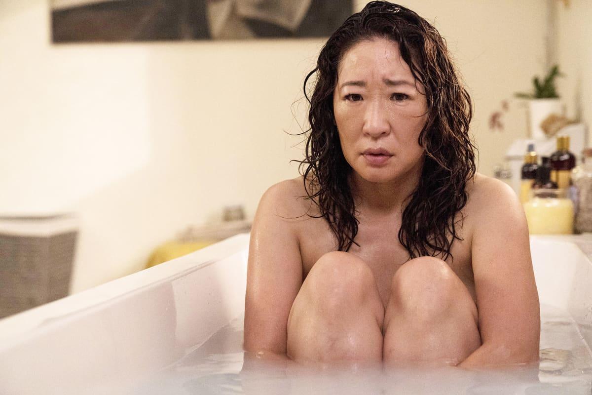 Killing Eve tv-sarjan näyttelijä Sandra Oh.