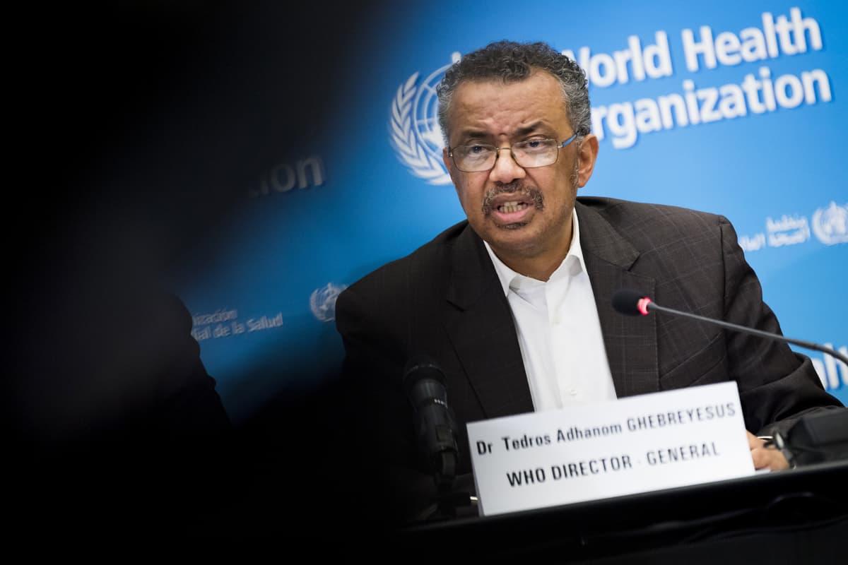 Maailman terveysjärjestön (WHO) pääjohtaja Tedros Adhanom Ghebreyesus.