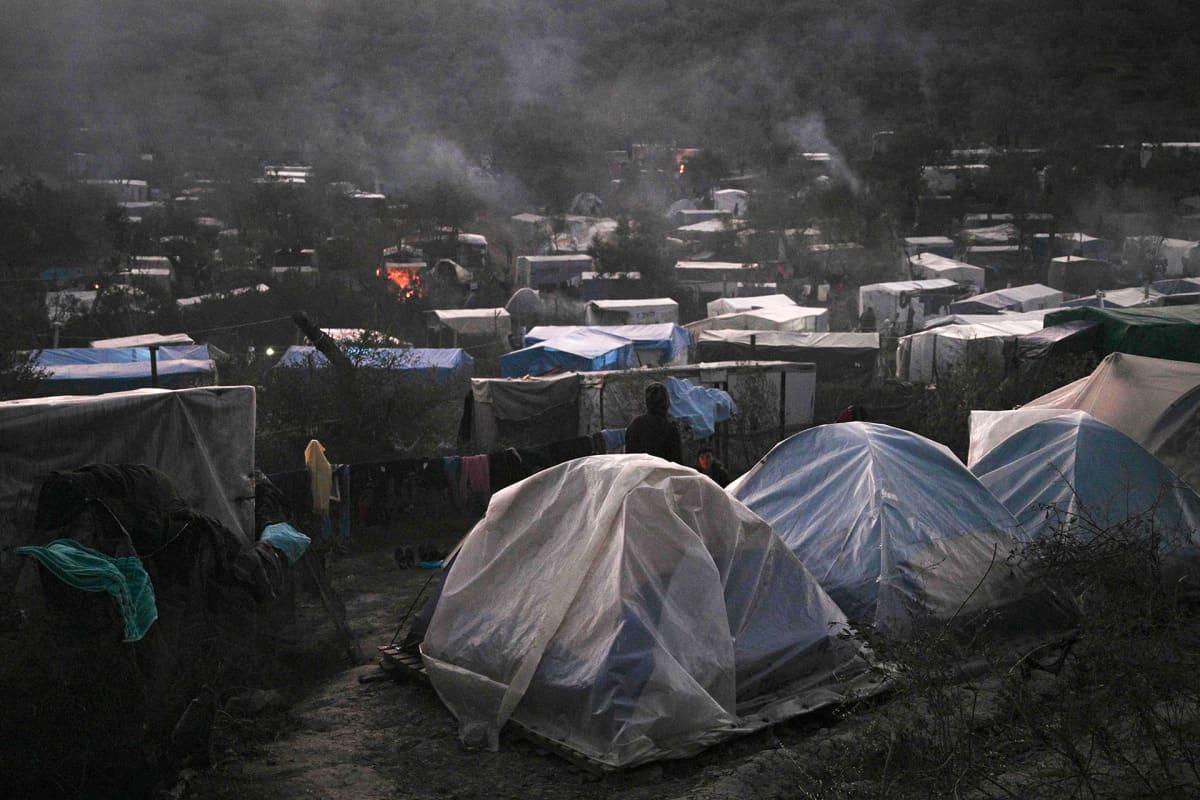 Morian pakolaisleirissä Lesboksella.