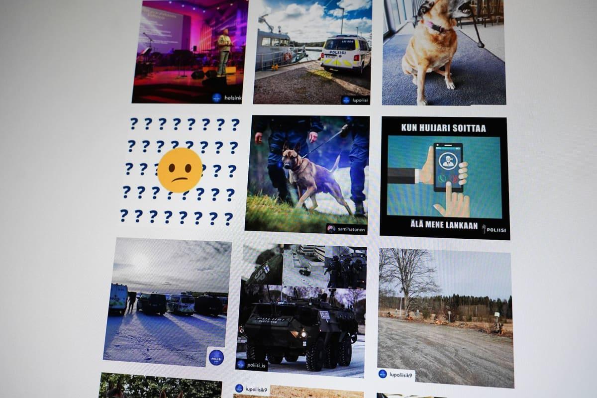 Poliisin Instagram-sivua