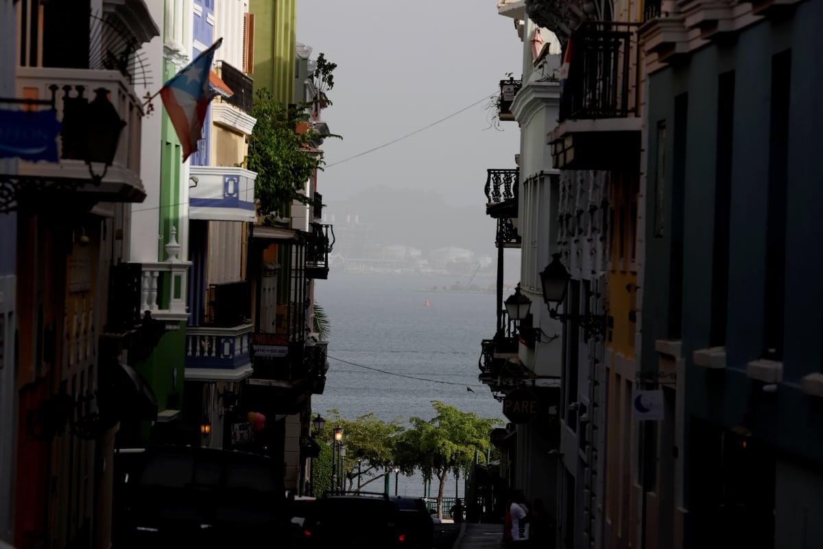 Saharan tomupilvi Puerto Ricossa 23.6.2020