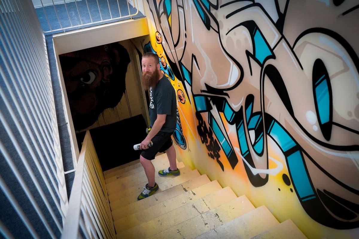 purkutaide, Kerava, graffiti, Jouni Väänänen