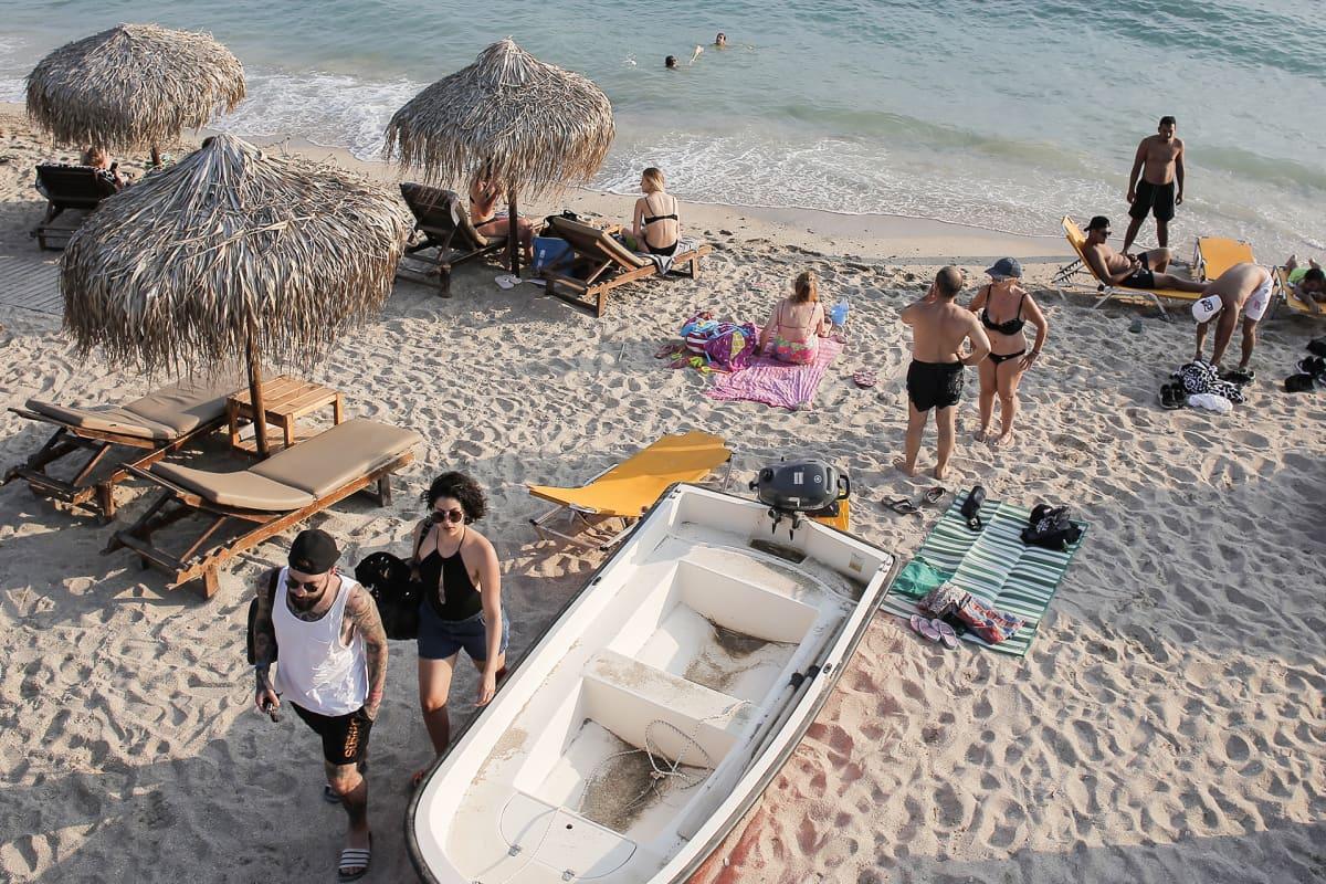 Faliron ranta Ateenassa 5. heinäkuuta.