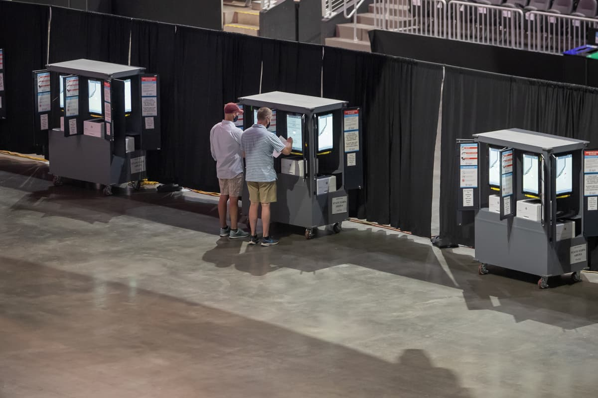 Äänestyspaikka Atlantassa.