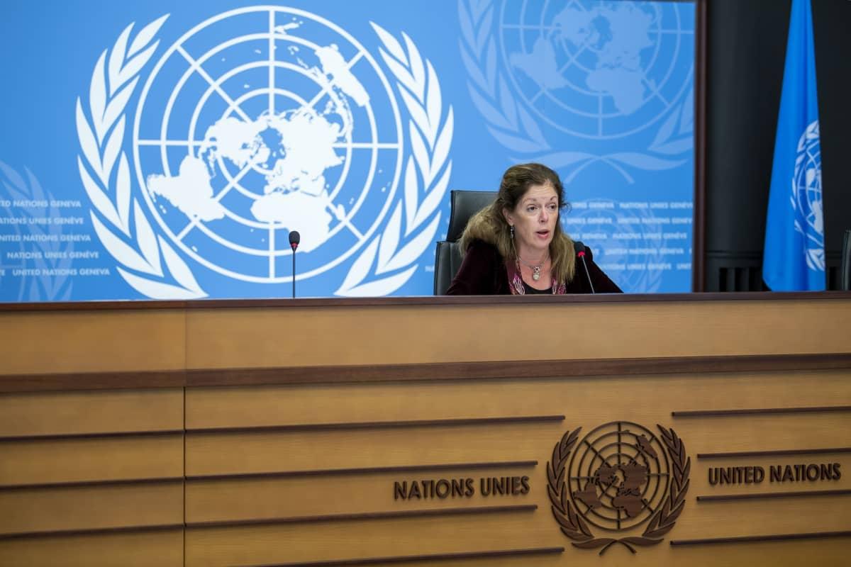 YK:n Libyan erikoisedustaja Stephanie Williams.