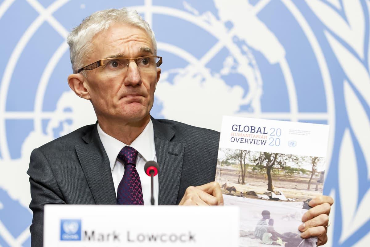 YK-järjestö OCHAn johtaja Mark Lowcock.