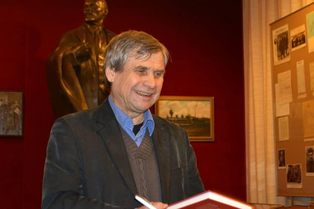 Aimo Minkkinen Lenin-museossa