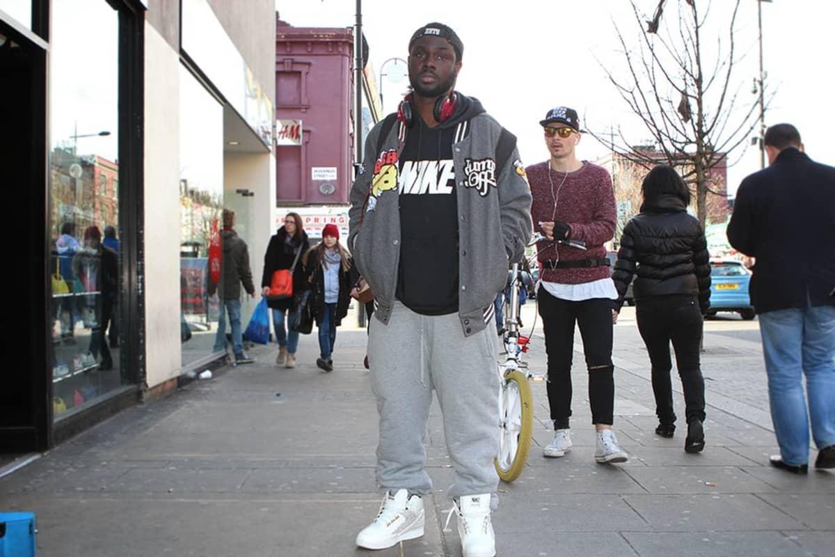 Lontoolainen Kig, 28, ei välitä siitä, etteivät hip hop -vaatteet ole enää muodissa.