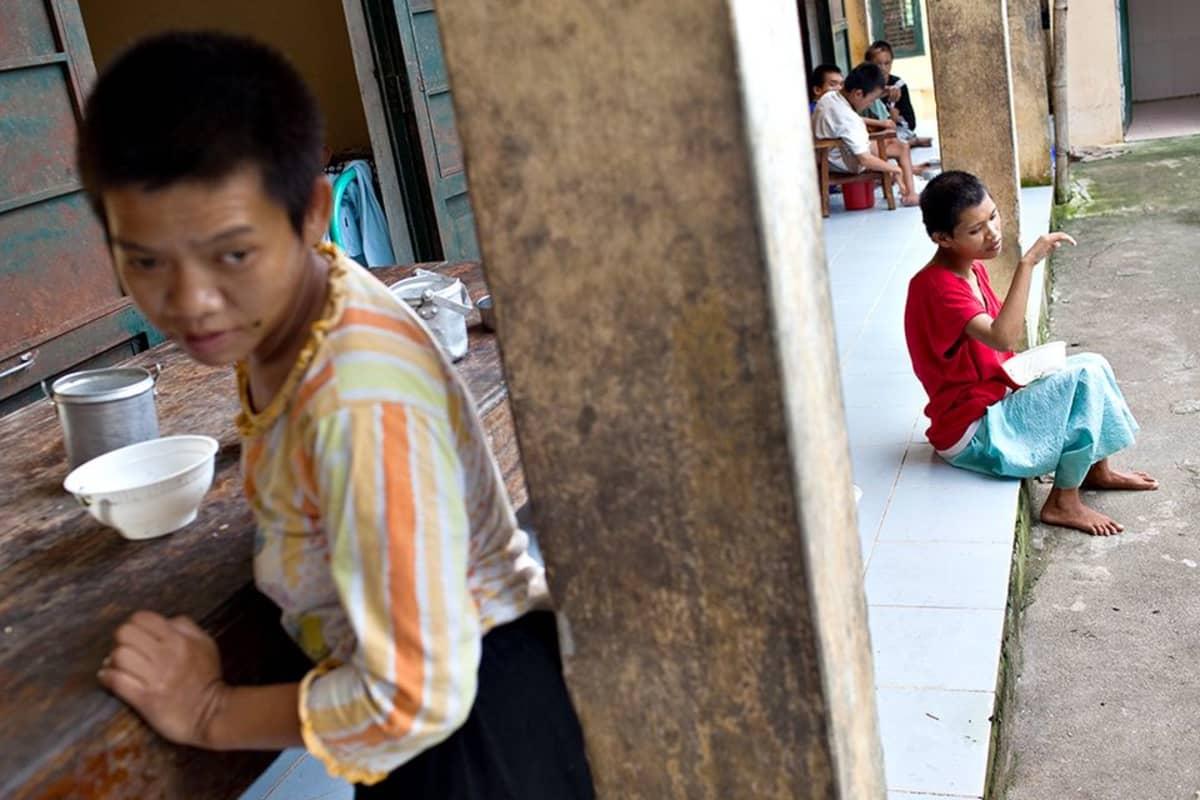 Orpokoti lähellä Hanoita.