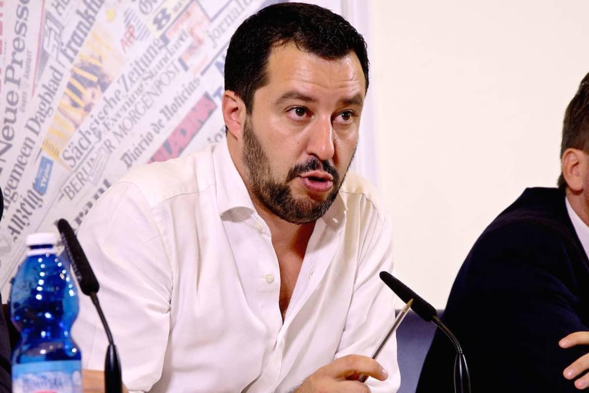 Pohjoisen Liiton puheenjohtaja Matteo Salvini.