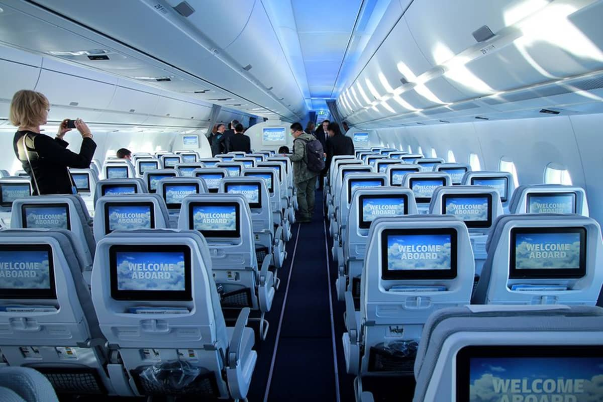 A350 matkustamo