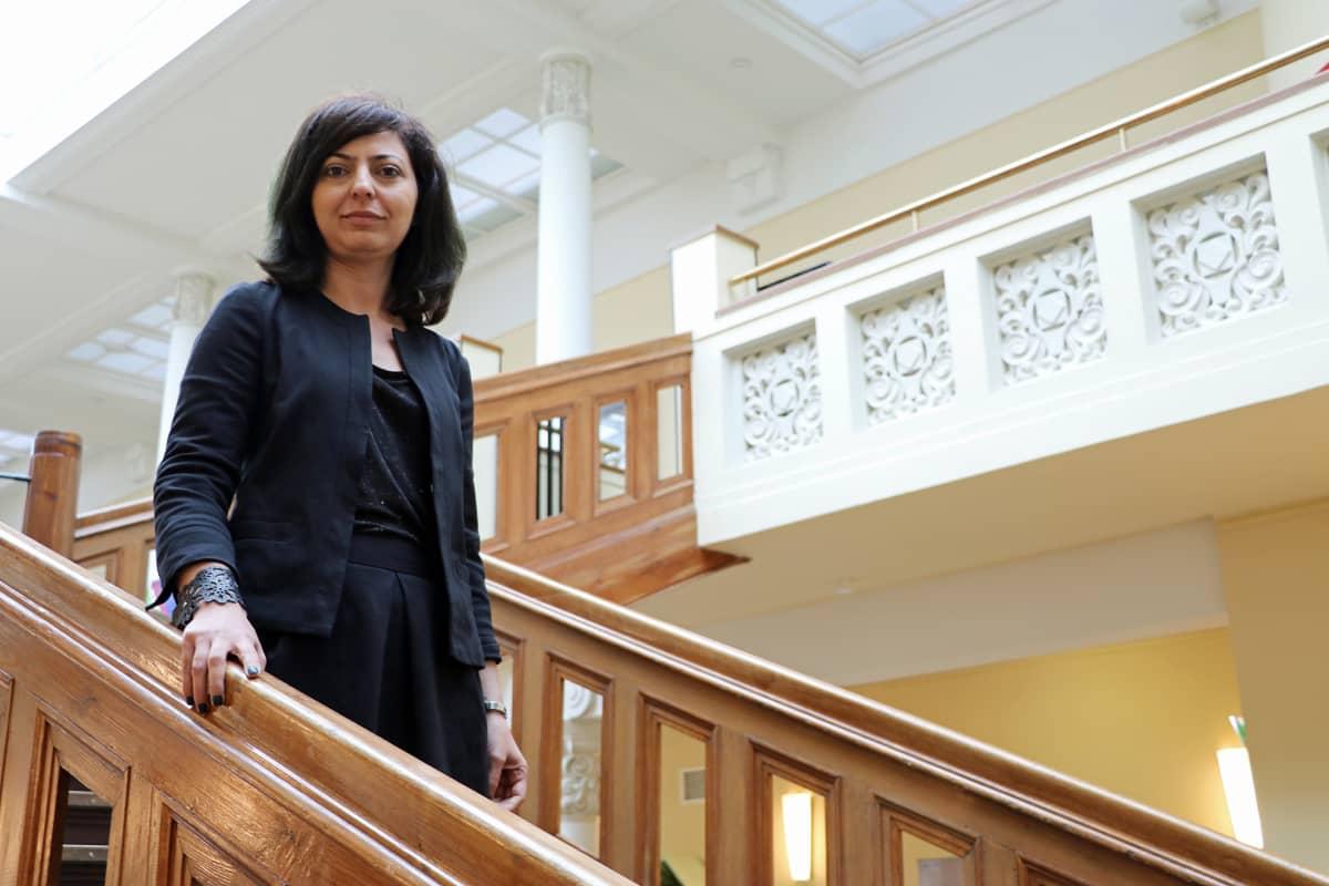 Chatham Housen Lähi-itä-ohjelman johtaja Lina Khatib Helsingissä