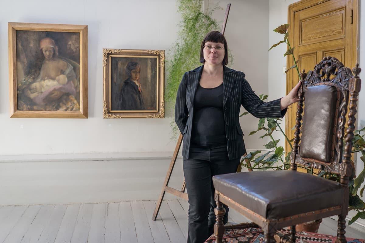 Rozentalsien asunto on nykyään museo, jota Dace Vosa johtaa.