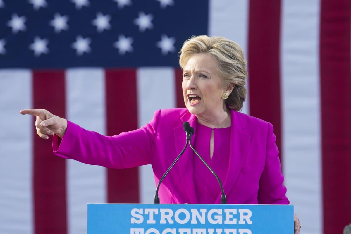 Hillary Clinton Pohjois-Carolinassa 3. marraskuuta.