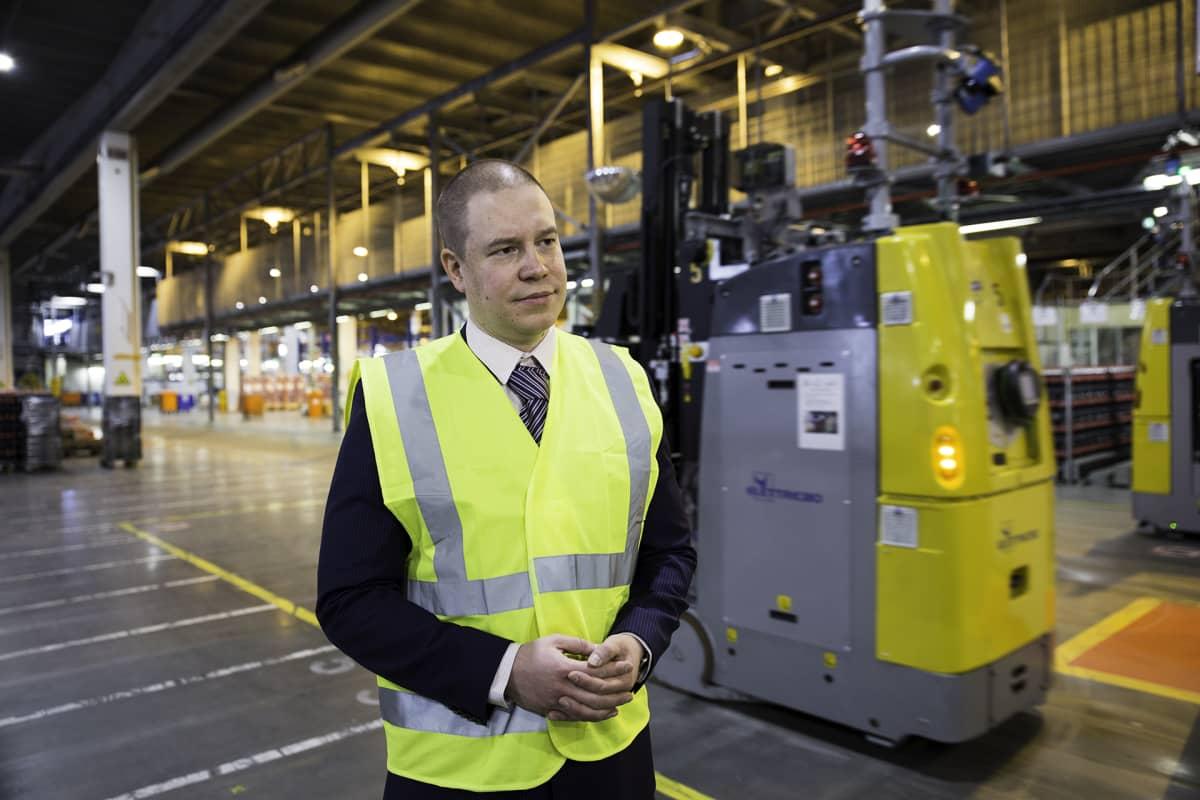 business manager Jani Lindström postin elintarvikelogistiikka