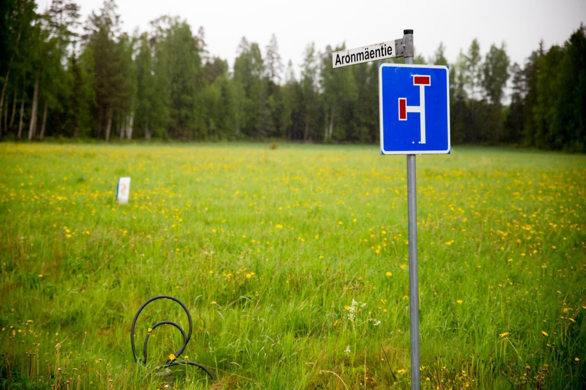 Aronmäen tonttialue kesäkuussa 2017. Tälle paikalle pitäisi nousta puolen vuoden aikana terveyskylän ensimmäiset rakennukset.