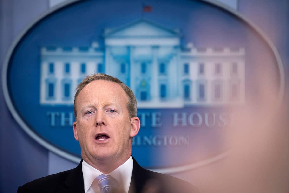 Valkoisen talon lehdistöpäällikön Sean Spicer