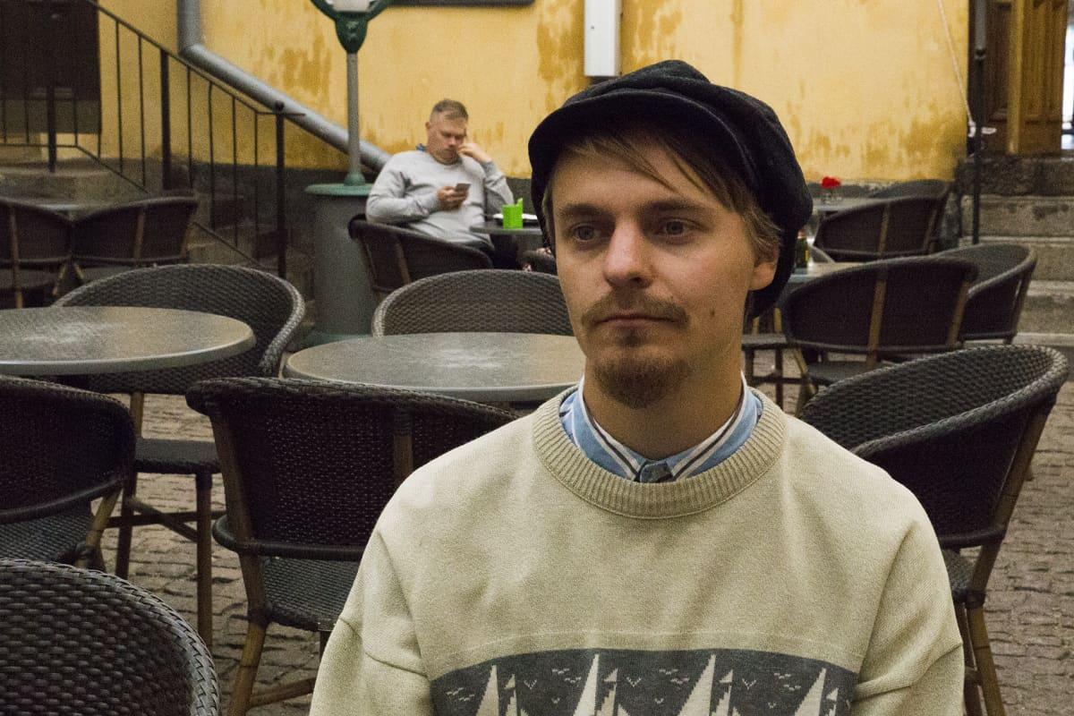 Helsingin yliopiston kolmannen vuoden opiskelija Joel Lindqvist