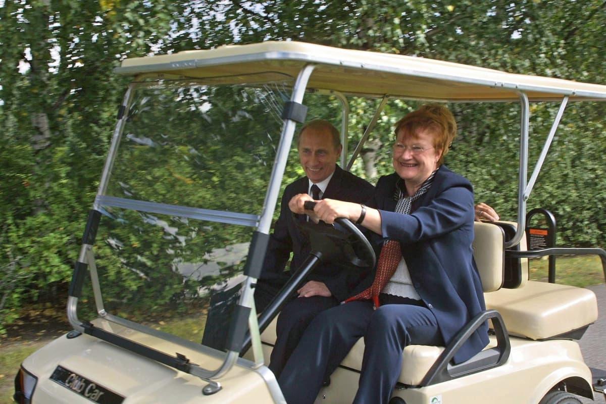 Tarja Halonen ja Vladimir Putin
