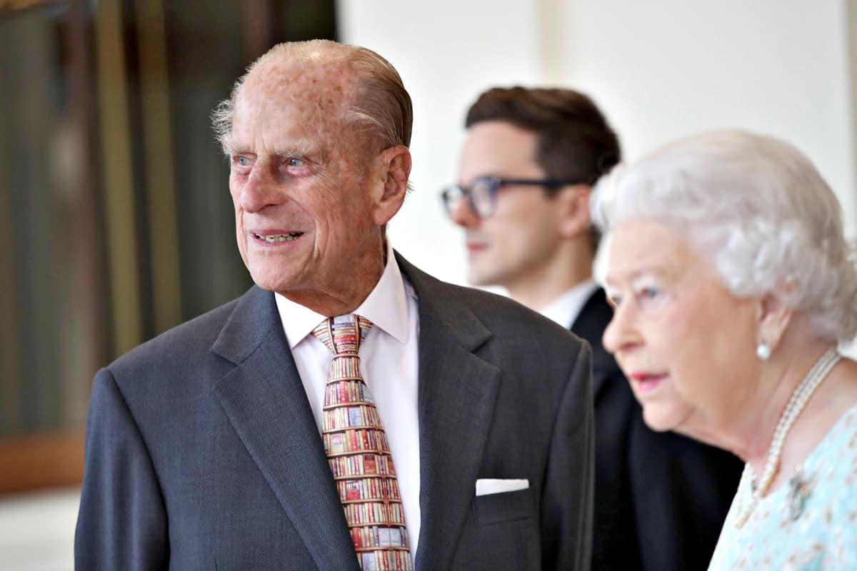 Prinssi Philip ja kuningatar Elisabet isännöivät Espanjan kuninkaallisten vierailua Buckinghamin palatsissa 14. heinäkuuta.