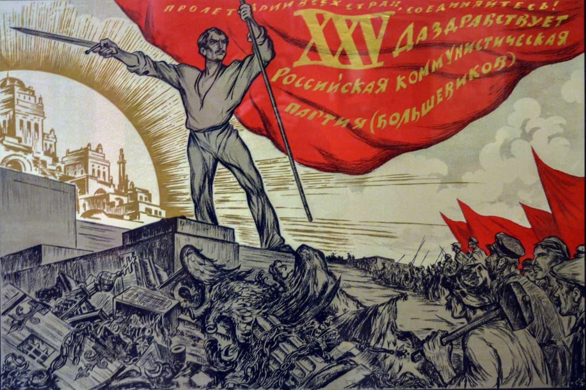 Ivan Simakov, Propagandataide, juliste, Venäläisen taiteen museo