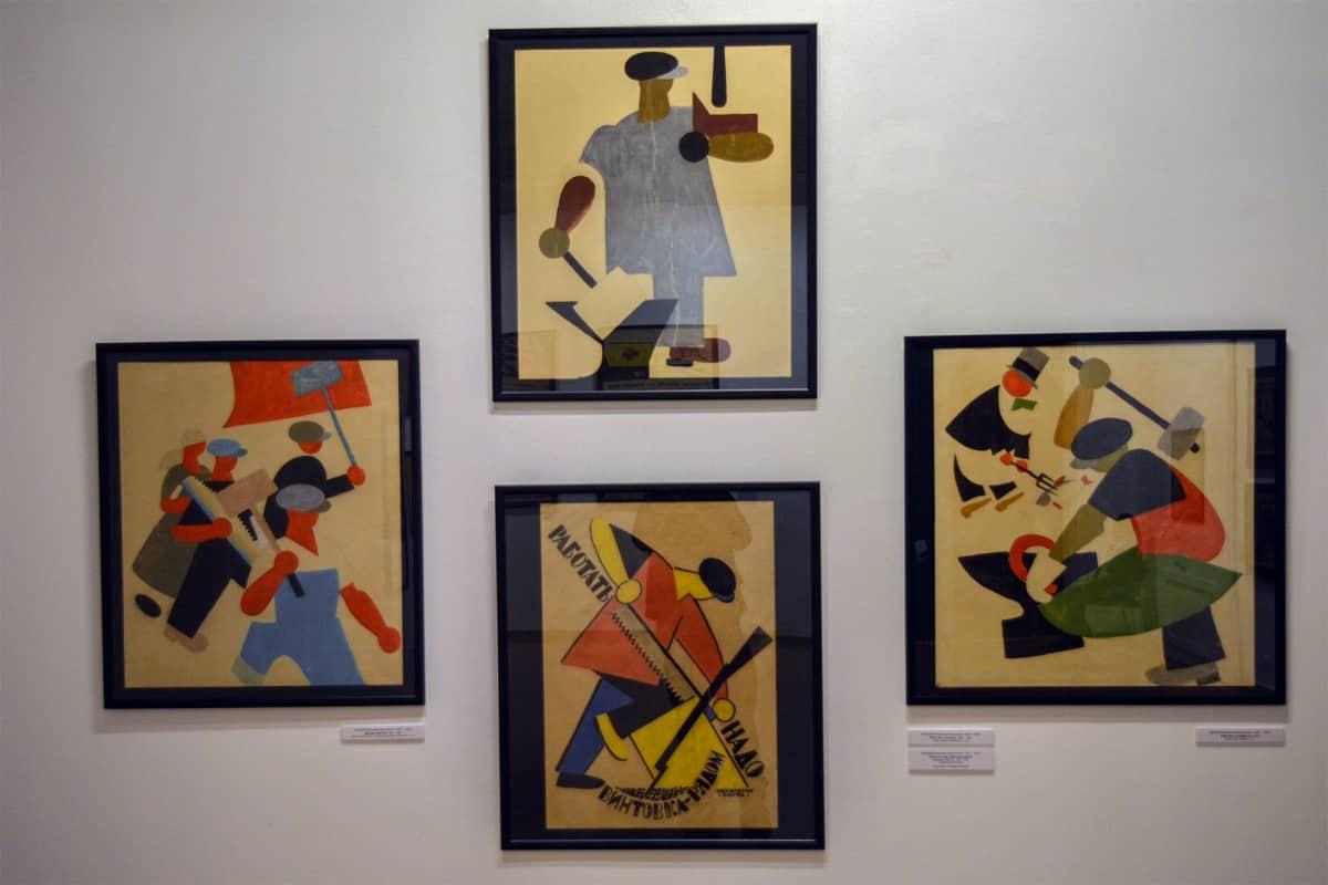 Vladimir Lebedev, propagandataide, Venäläisen taiteen museo, juliste