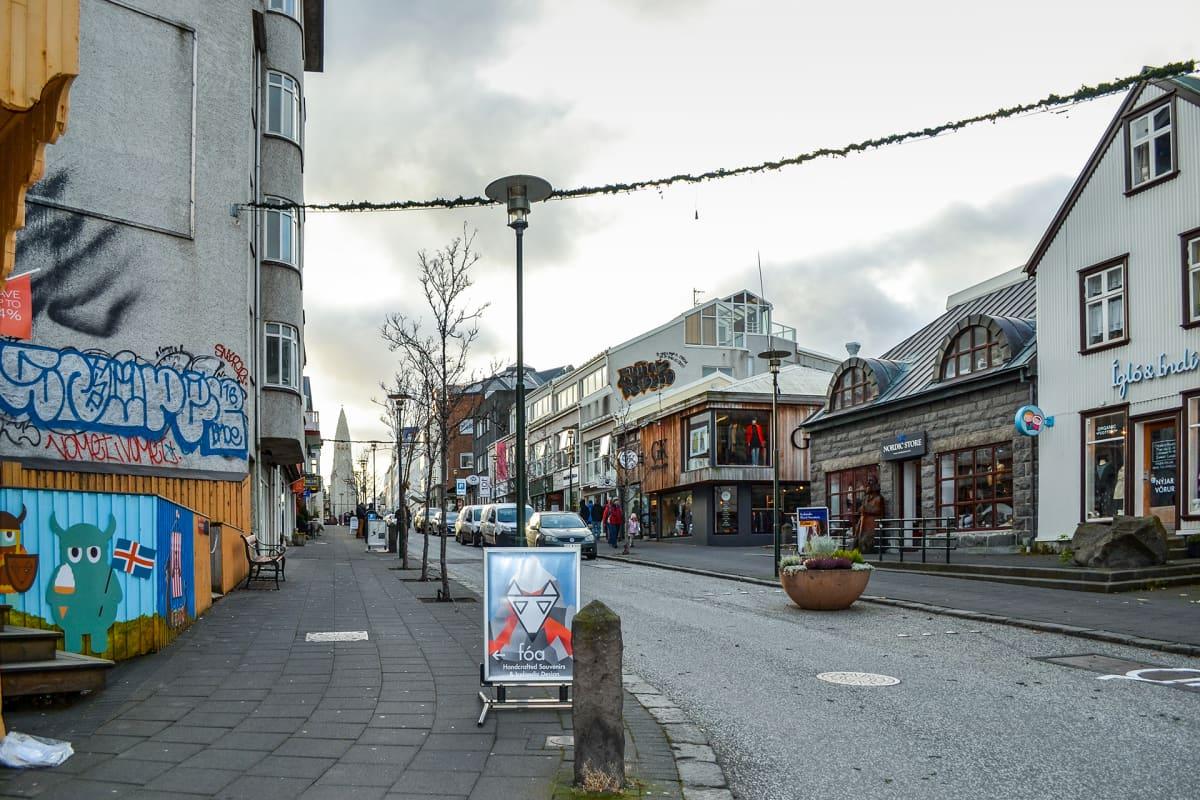 Islanti Reykjavik katukuva.