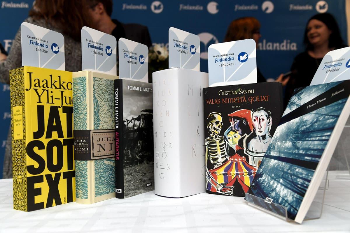 Kaunokirjallisuuden Finlandia-palkintoehdokaskirjat.