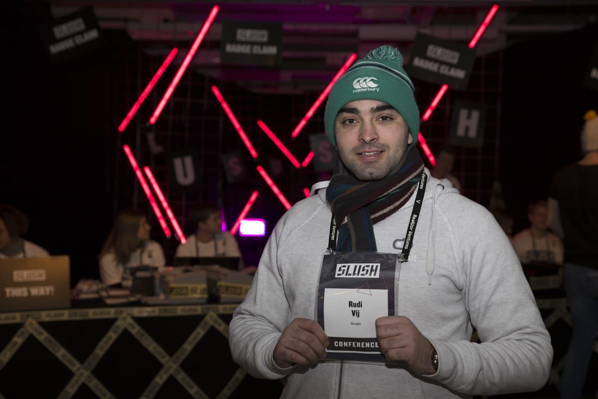 Rudy Vij on tullut Dublinista Helsinkiin Slush tapahtuman takia.