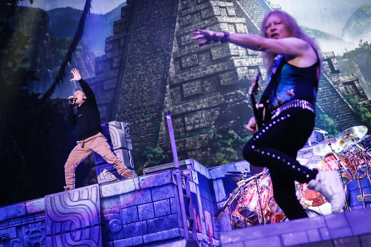 Iron Maiden Shanghaissa huhtikuussa 2016.