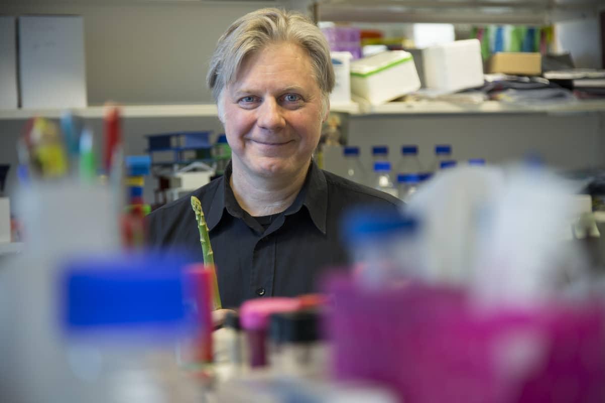Tutkimusjohtaja Juha Klefström työpaikallaan Biomedicumissa