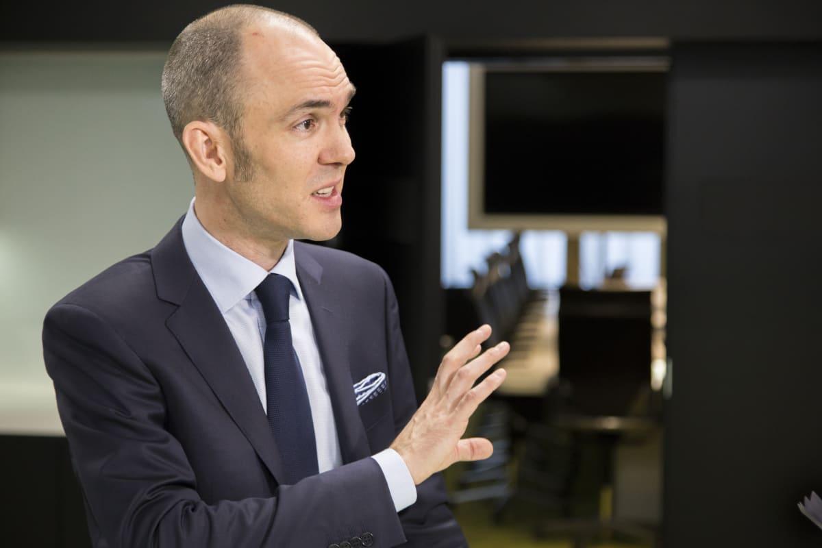 Kristian Pullola, Nokia Oyj:n talous- ja rahoitusjohtaja Nokian tiloissa.
