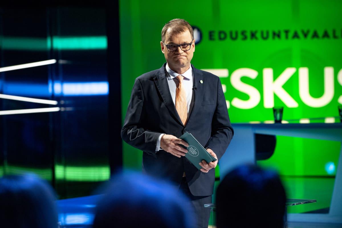 Juha Sipilä puoluejohtajien vaalitentissä Ylellä 20.3.2019