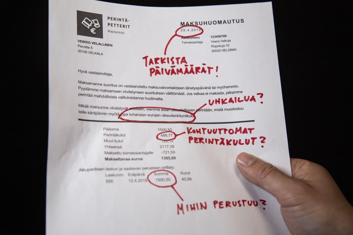 Maksuhuomautus / Velanperintä / Pasila 29.04.2019