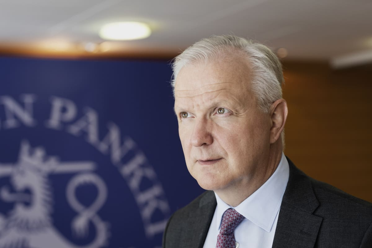 Olli Rehn kuvattuna Suomen Pankin tiloissa 11.6.2019.