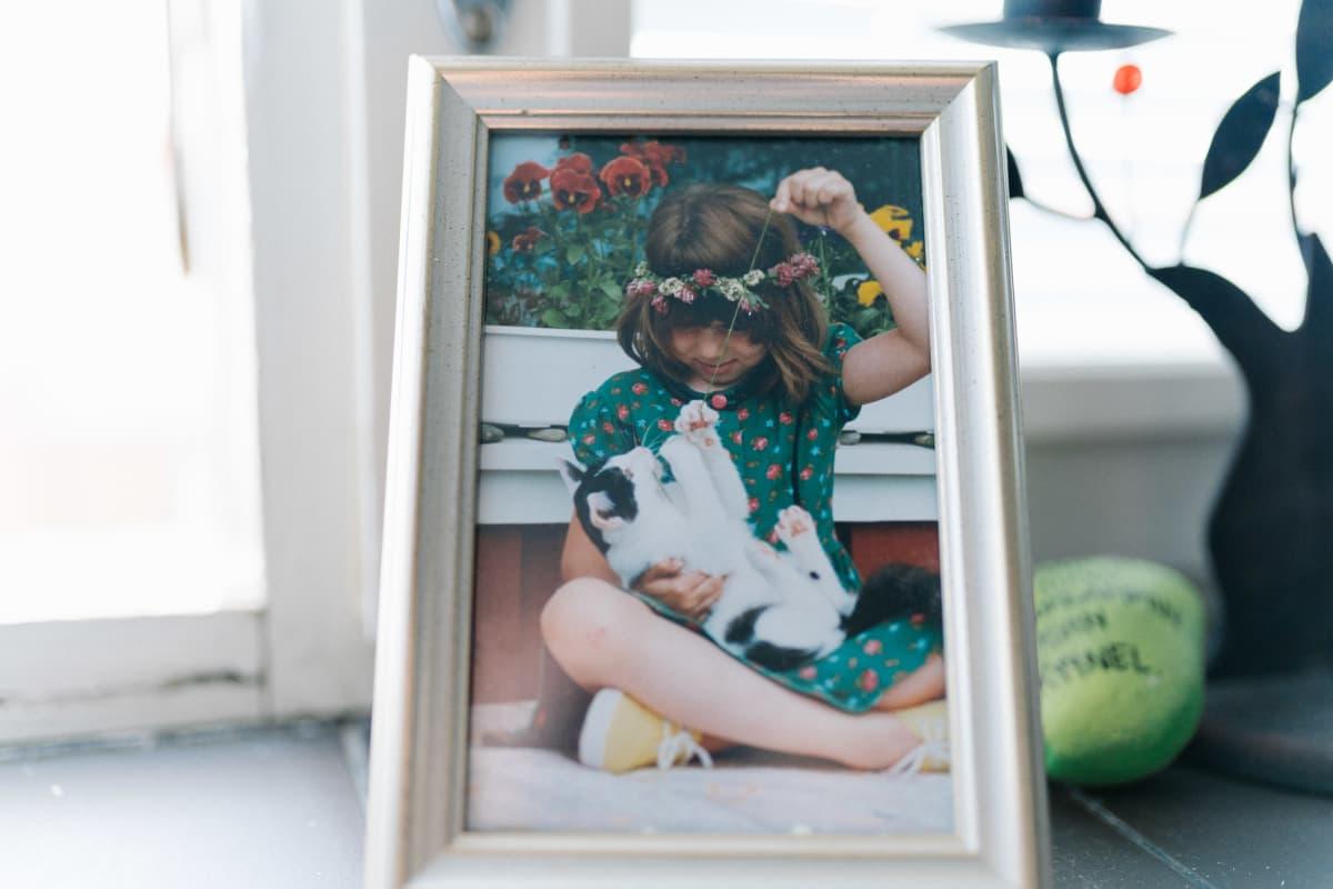Linda Sorrius lapsena valokuvassa, Salo, 07.08.2019