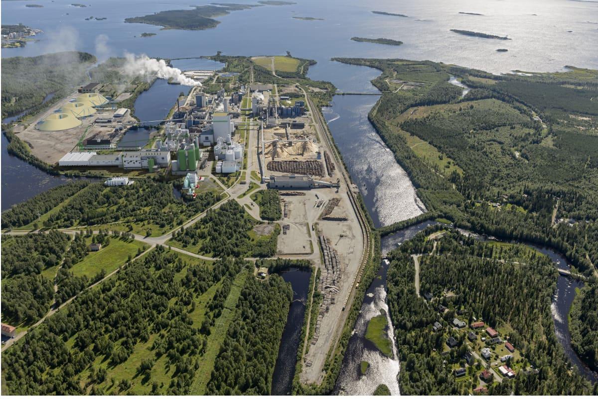 Metsä Fibren uusi biotuotetehdas tulisi Kemin Pajusaaren tehdasalueelle.
