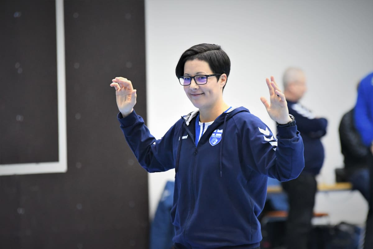 Målvaktstränaren Vanja Radic på handbollslandslagets träningar.