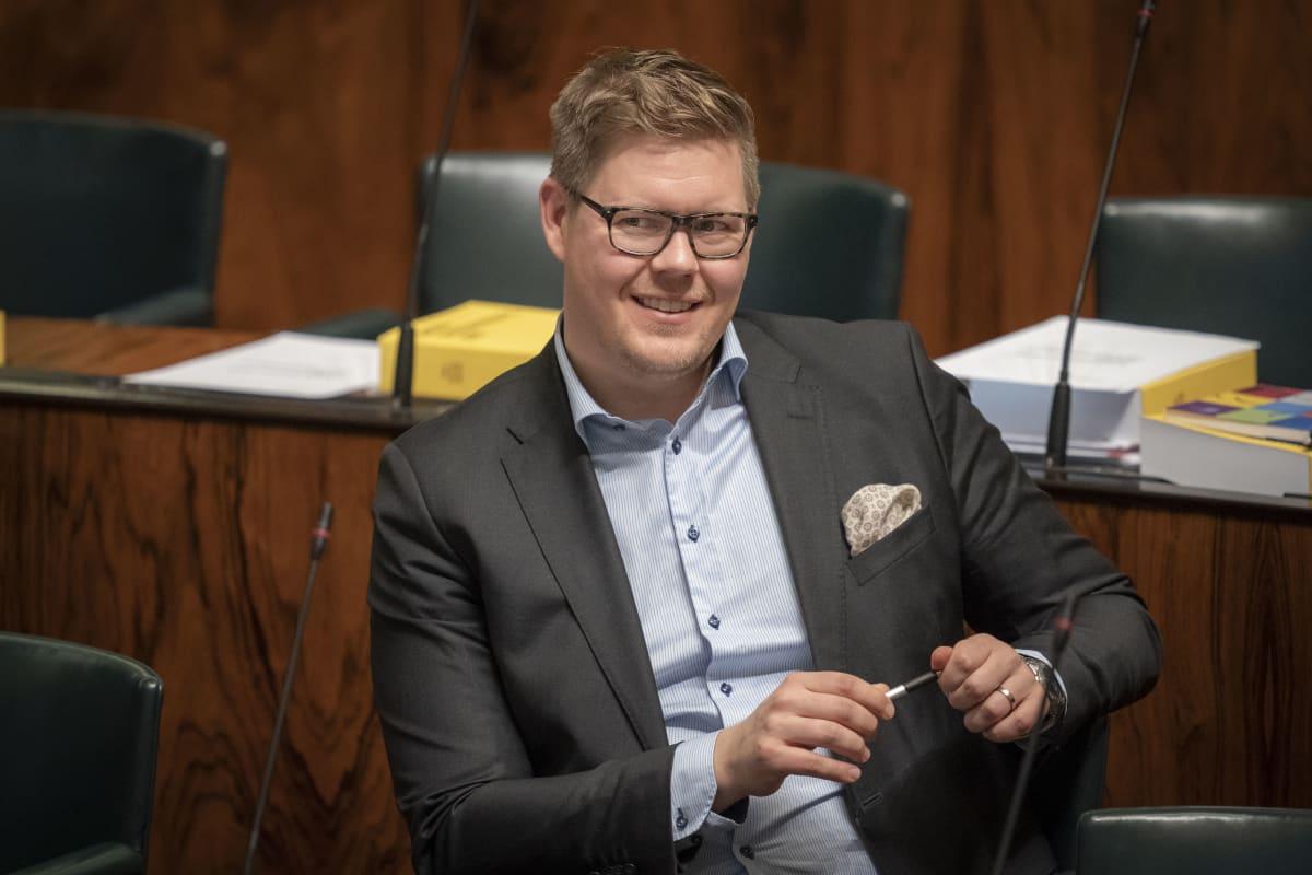 Antti Lindtman eduskunnassa 23.10.2019