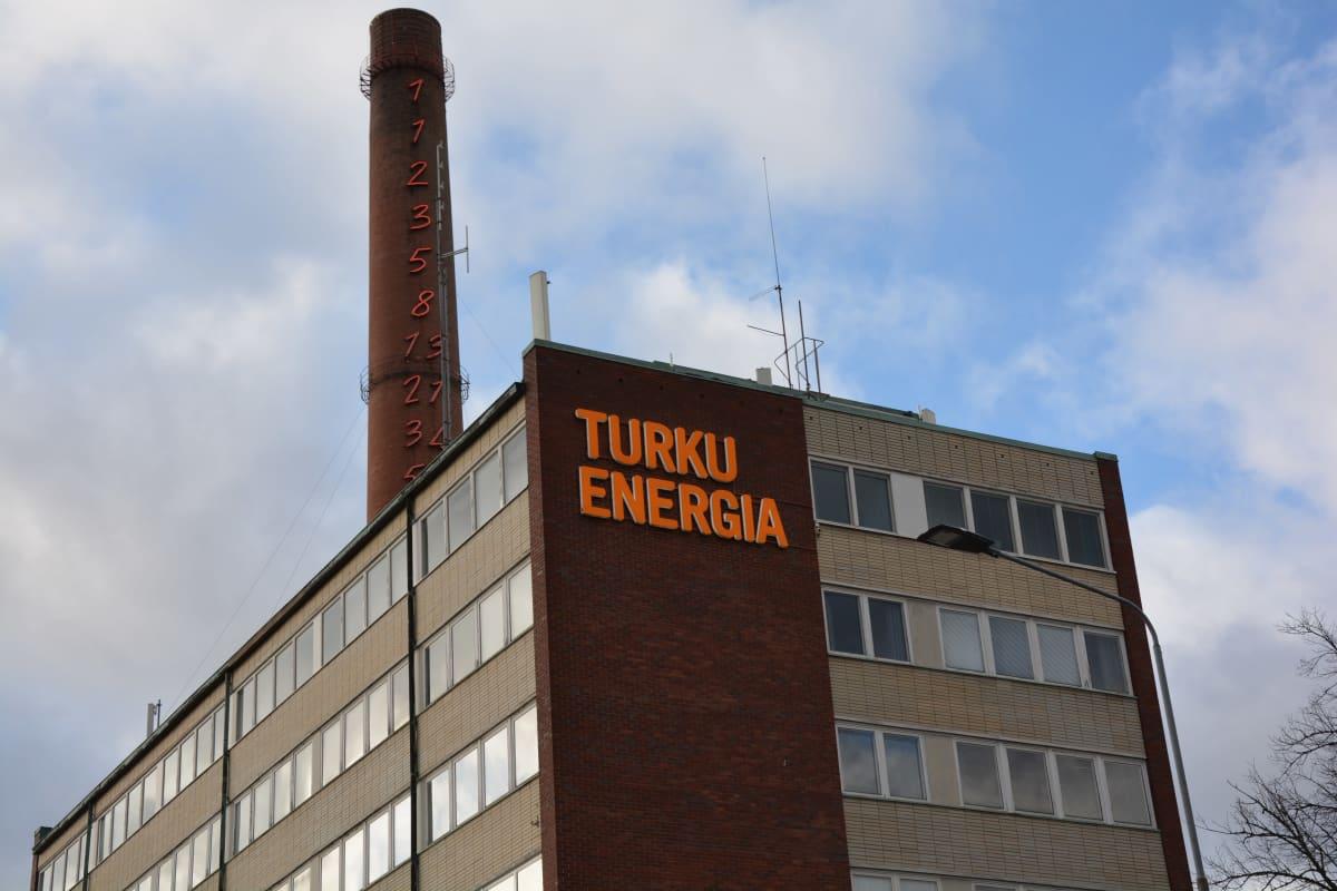 Ulkokuva Turku Energian toimistosta.