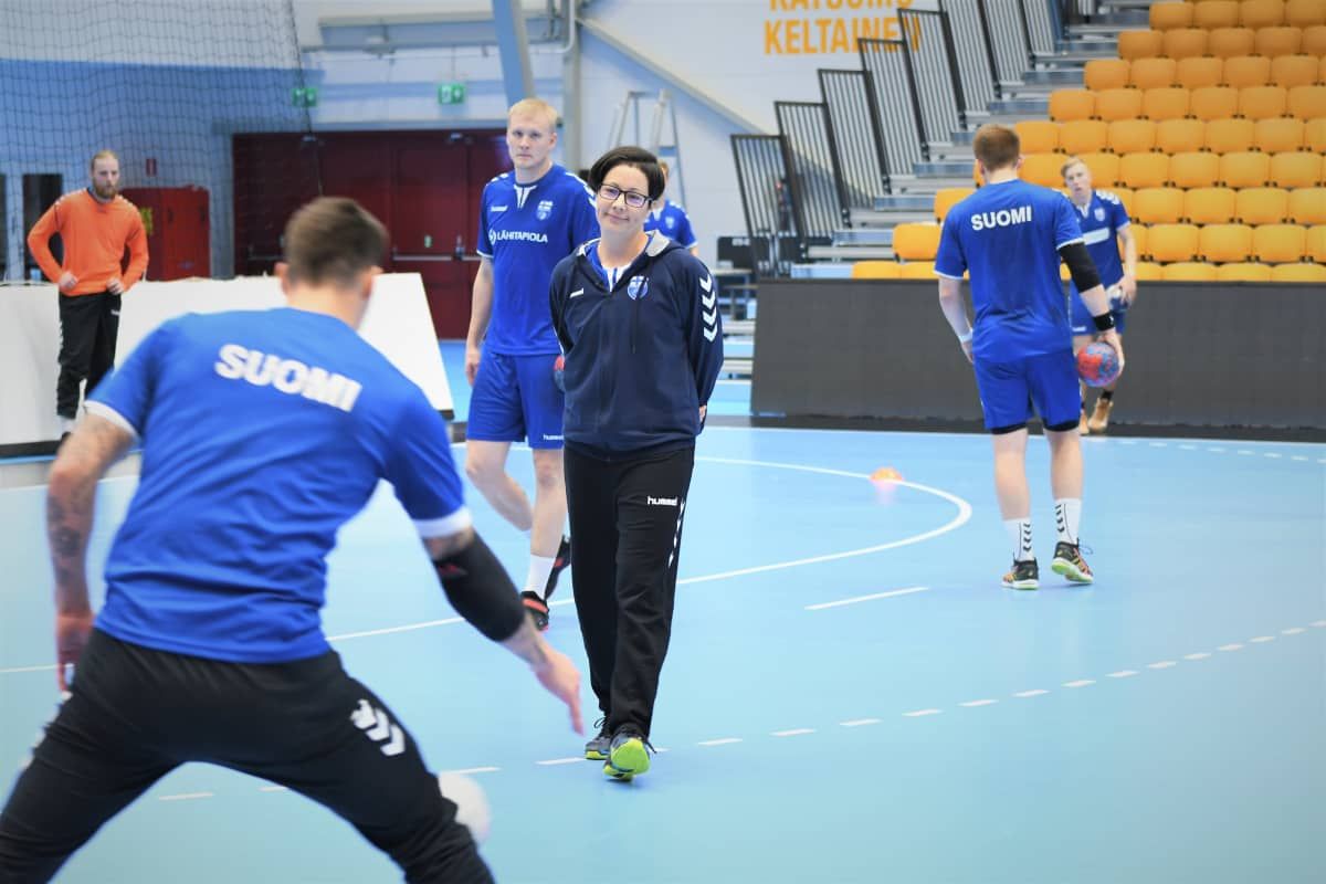 Vanja Radic på handbollslandslagets träningar.