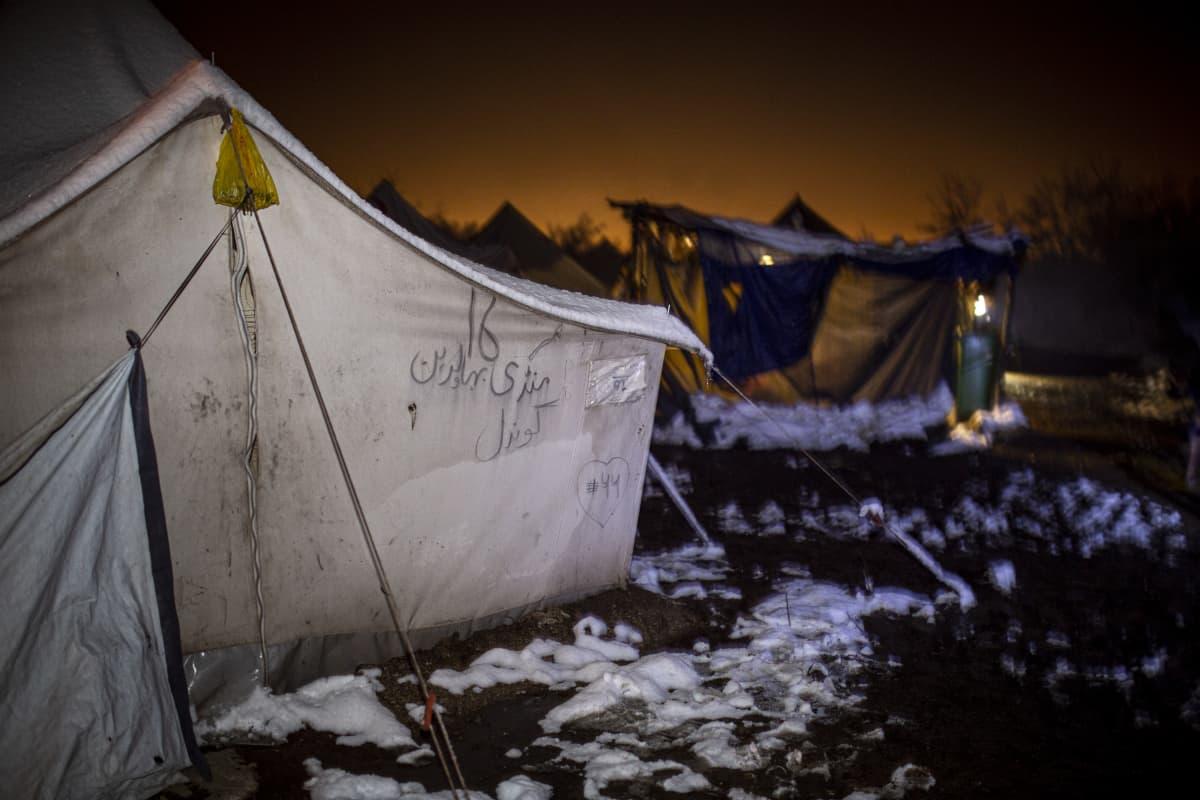 pakolaisleiri Bosniassa