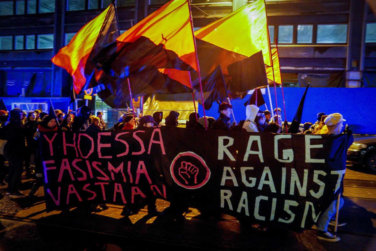 Helsinki ilman natseja-mielenosoitus 6.12.2019