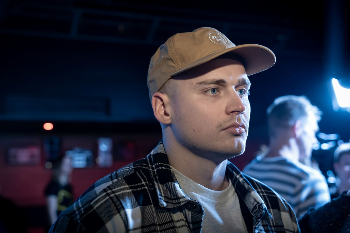 Jyväskyläläinen rap-artisti Gettomasa, Emma Gaala pressitilaisuus, Helsinki, 12.12.2019.