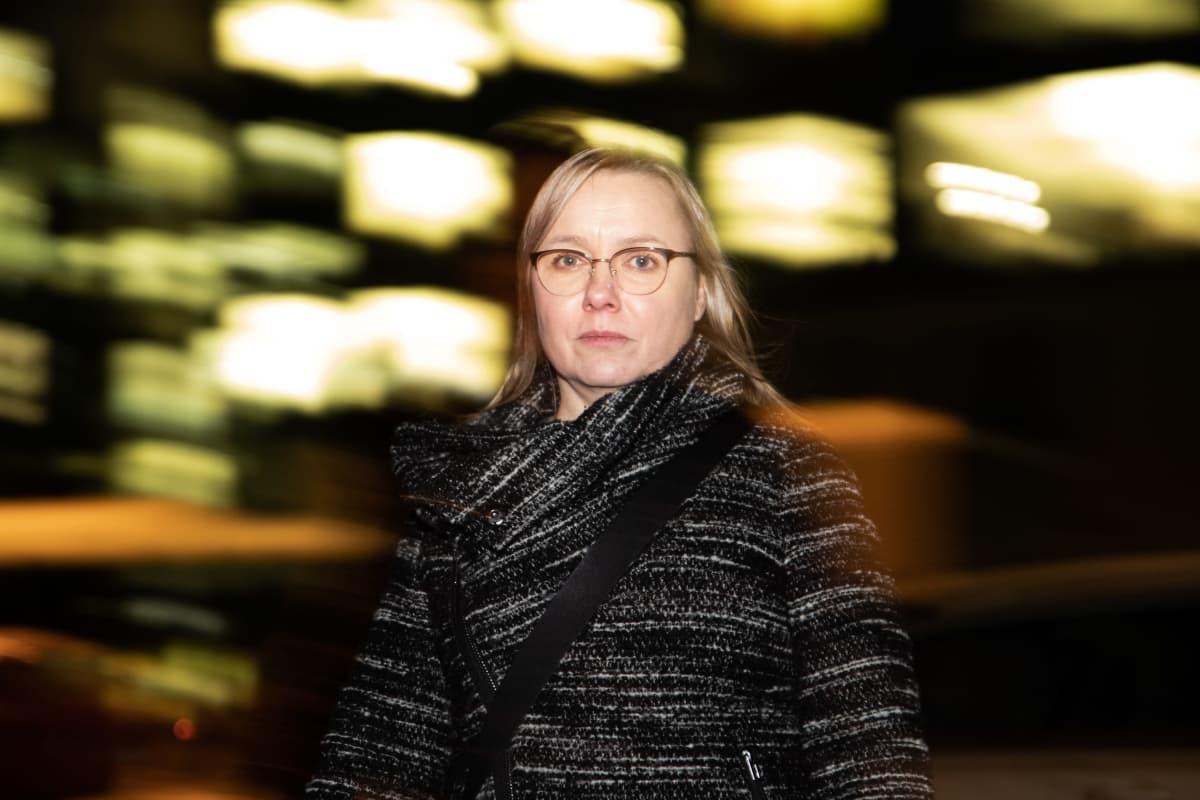 Hätäkeskuspäivystäjänä 10 vuotta toiminut Pia Hurme 12.12.2019.